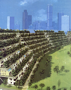 The single family housing on structures project could fit on the linear city