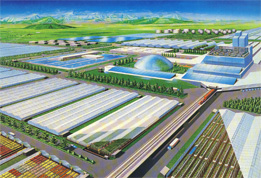 The mechanization of agriculture can positively be located in the linear city